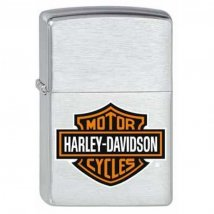 Zippo chrom gebürstet Harley-Davidson Bar & Shield