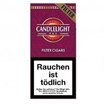 Candlelight Cherry / Red Filter Cigarillos