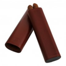 Cigarrenetui 2er Leder antik 170x43x20 mm
