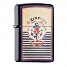 Zippo Navy Blue matt Nautical