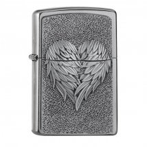 Zippo Heart With Feath 2005352