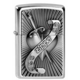 Zippo Street chrom Heart With Sword