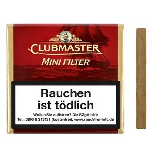Clubmaster Mini Filter Red (Vanilla) 20er