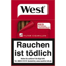 West Red Filter Cigarillos (10x17)
